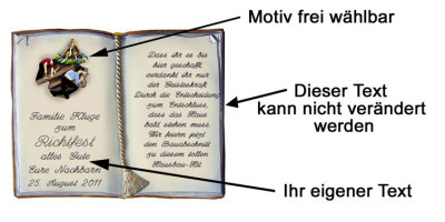 Geschenk Zum Richtfest Copyright Bild Und Text Michael