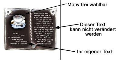 744 Keramikbuch Mit Spruch Zur Porzellanhochzeit Decoramic